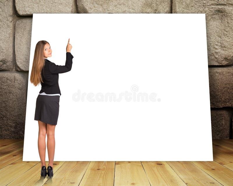 大空白的横幅 库存图片