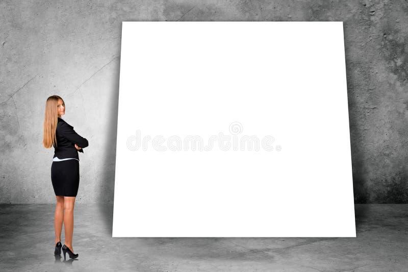 大空白的横幅 库存照片
