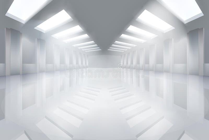 大空的大厅 也corel凹道例证向量 皇族释放例证