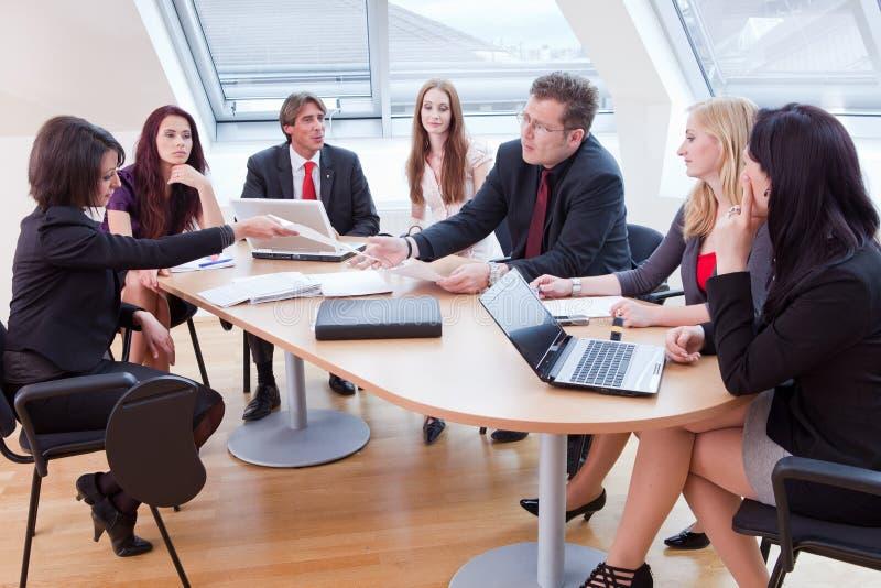 大笔生意会议 免版税库存照片
