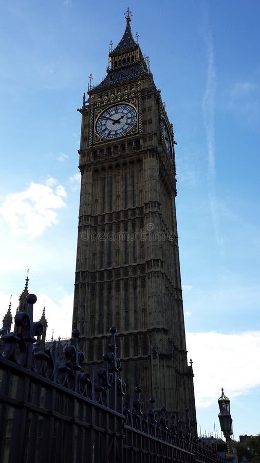 大笨钟塔在伦敦 库存照片