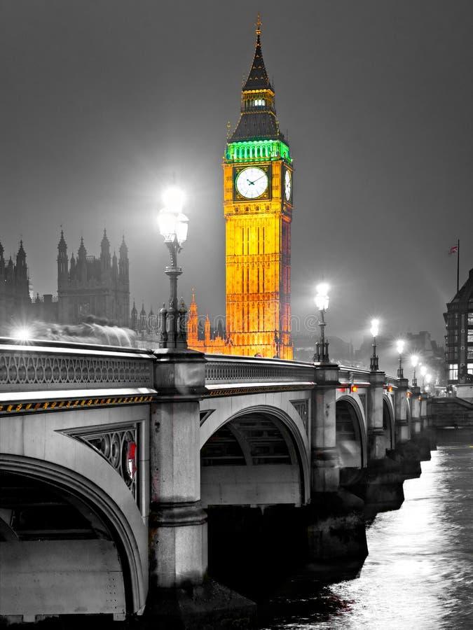 大笨钟,伦敦,英国。 库存照片