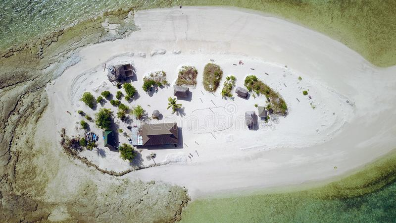 大篷车海岛从上面,斐济 库存照片