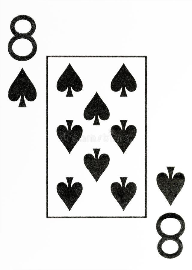 大索引纸牌锹8  免版税库存照片