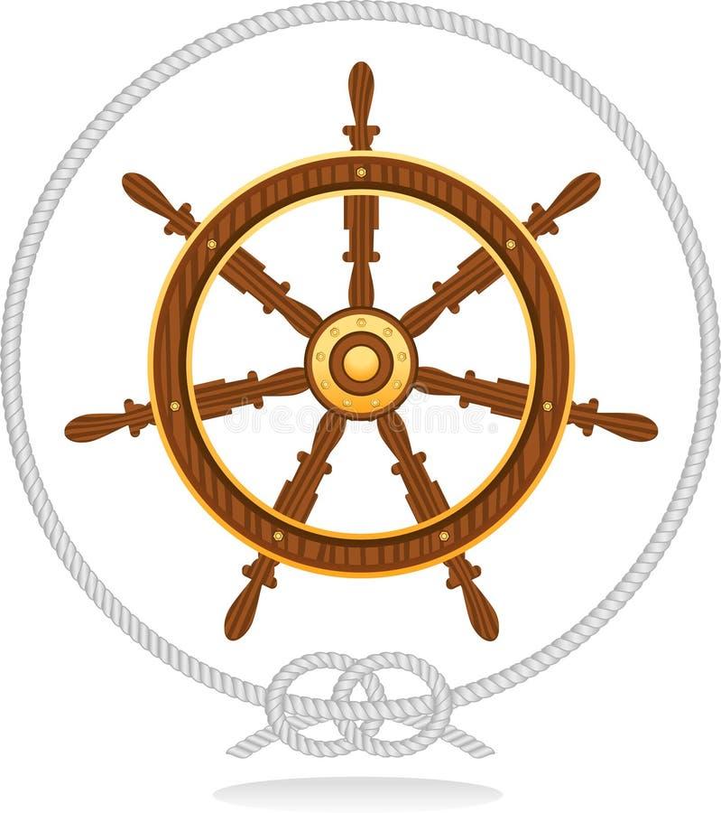 大索船舵 向量例证