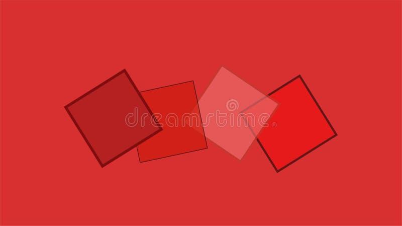 大红场墙纸 向量例证