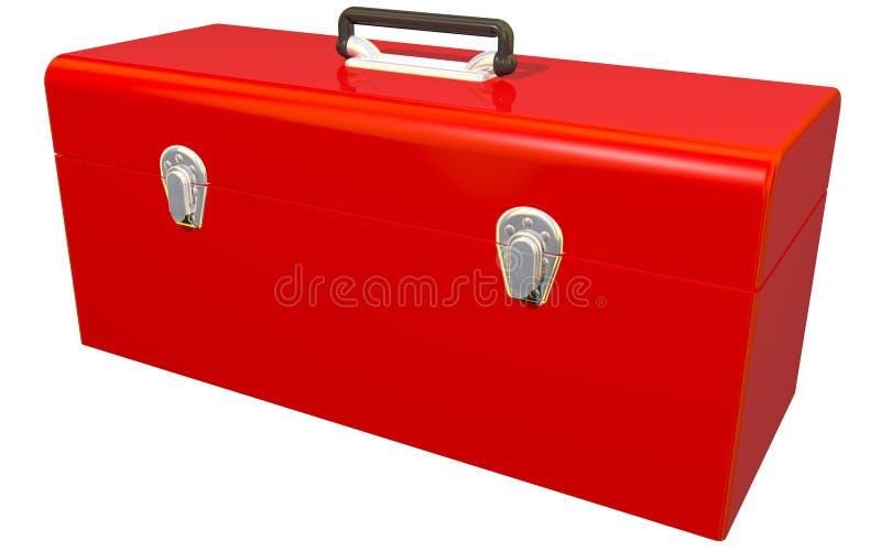 大红色工具箱 向量例证
