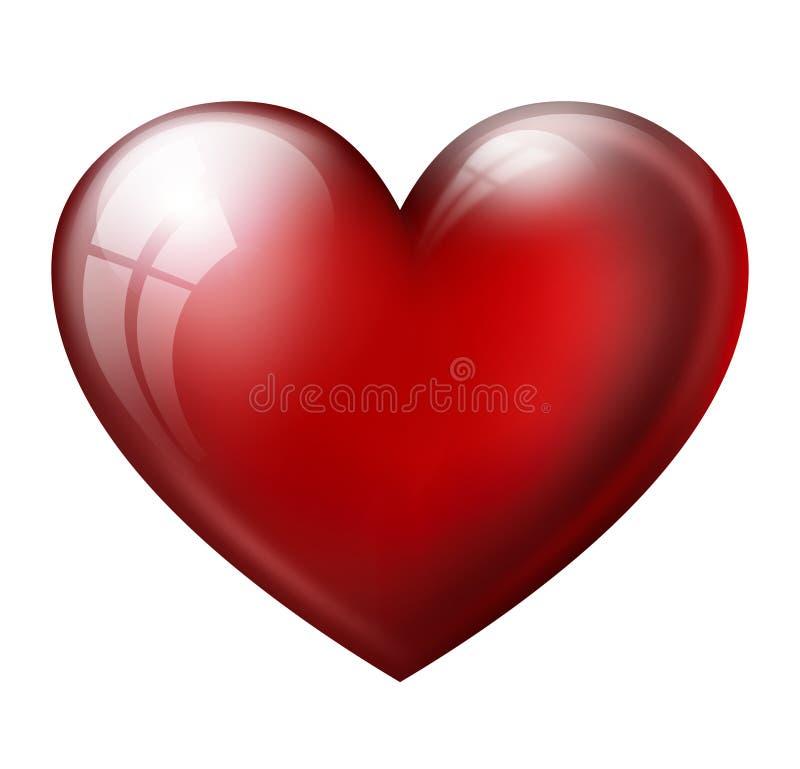 大红色心脏 向量例证
