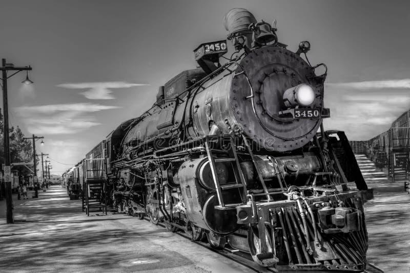大约1930的烧煤机车美国 库存照片