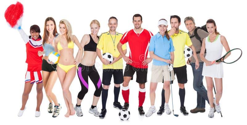 大组体育运动人 免版税库存照片