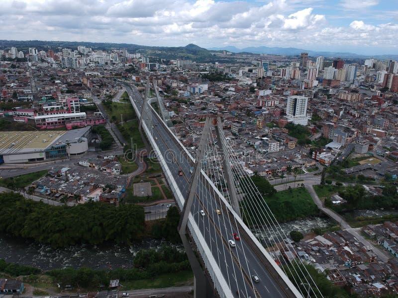 大结构在佩雷拉里萨拉尔达省哥伦比亚 免版税库存照片