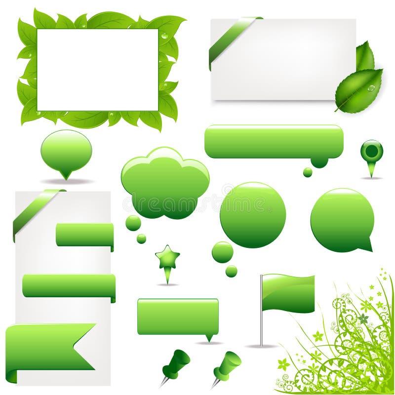 大绿色集合向量 皇族释放例证