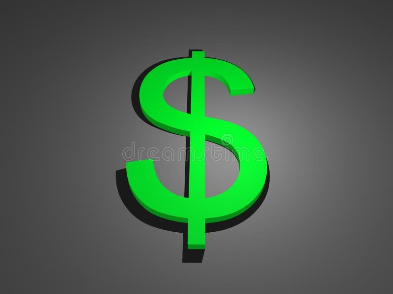 大美元绿色 库存例证