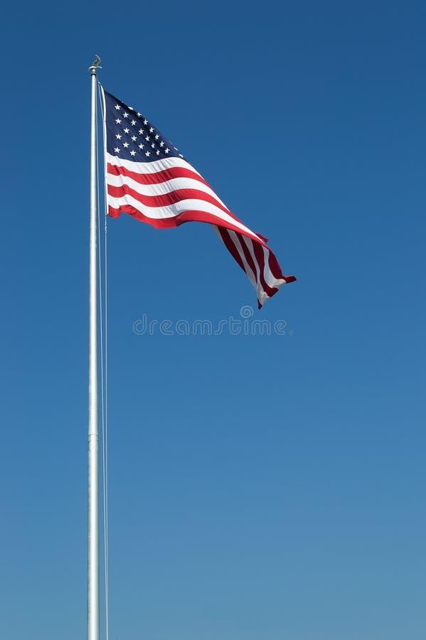 大美国标记和蓝天 库存图片