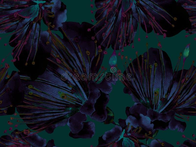 大胆的抽象花卉样式 皇族释放例证