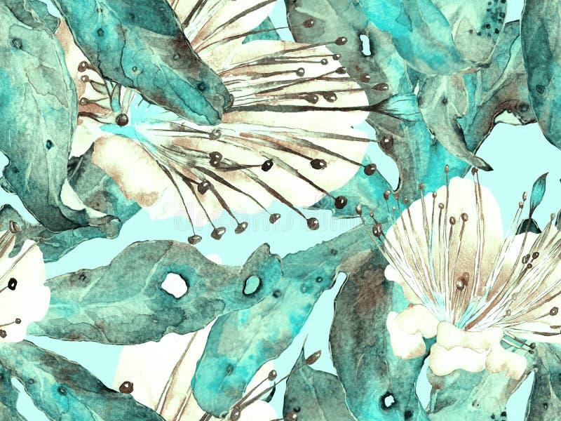 大胆的抽象花卉样式 库存照片