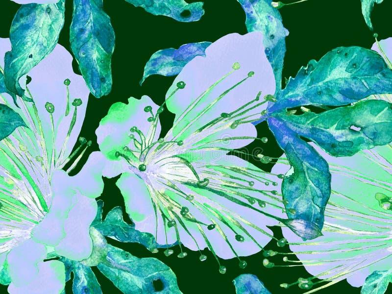 大胆的抽象花卉样式 向量例证