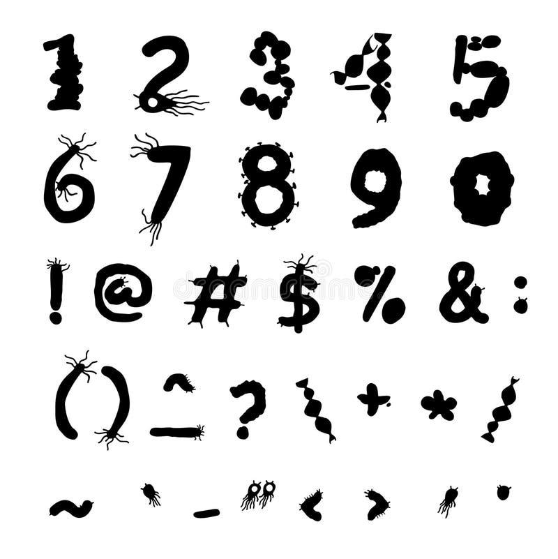 大胆的生物字体 向量例证