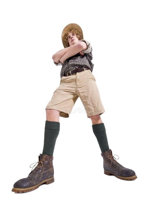 大胆的boyscout 库存图片