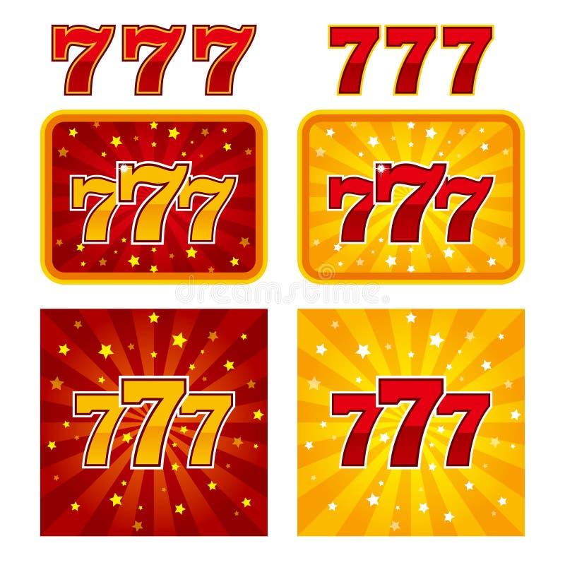 大胜利开槽777副横幅赌博娱乐场 库存例证