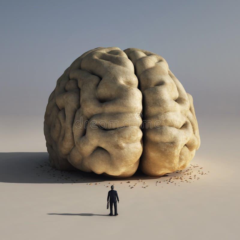 大脑子人 库存例证