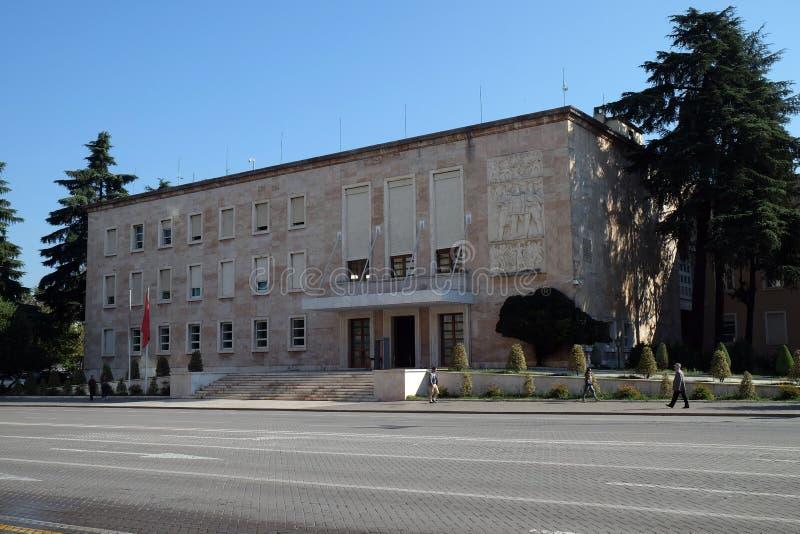 大臣会议,总理` s办公室,地拉纳 免版税库存照片