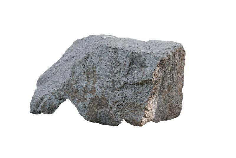 大花岗岩石头,隔绝在白色背景 免版税库存照片