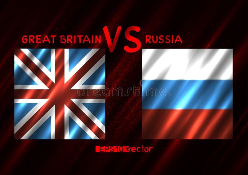 大英国俄罗斯冲突 库存例证