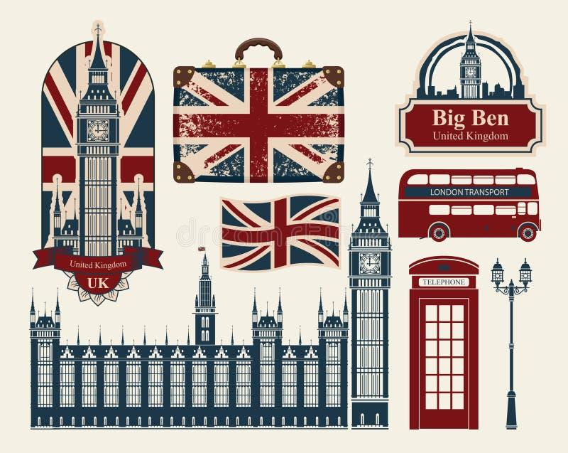 大英国和伦敦 皇族释放例证