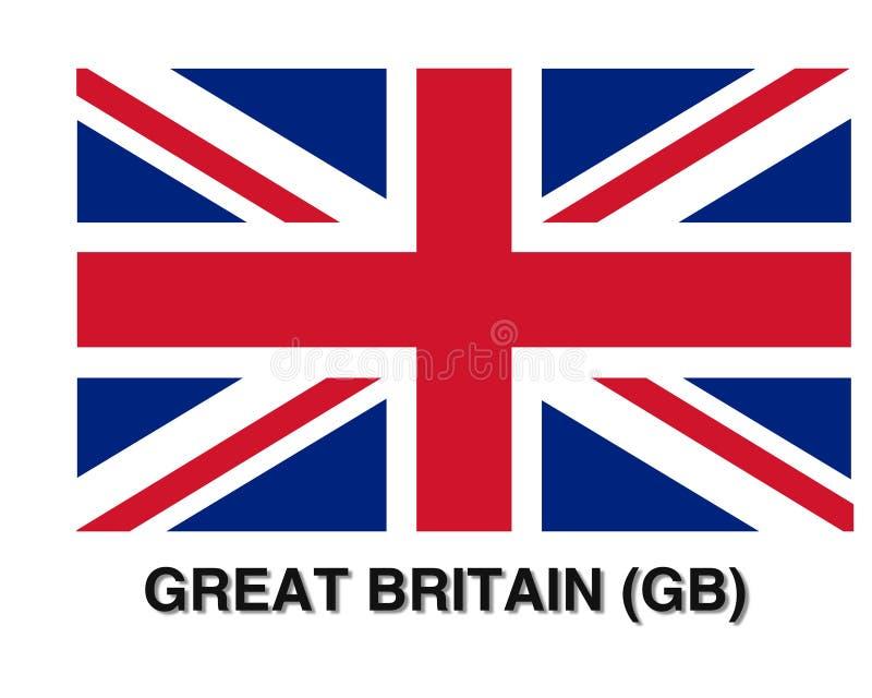 大英国旗子,超级质量摘要企业海报 库存例证