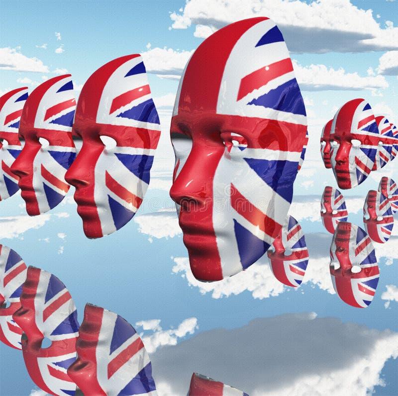 大英国面对 向量例证