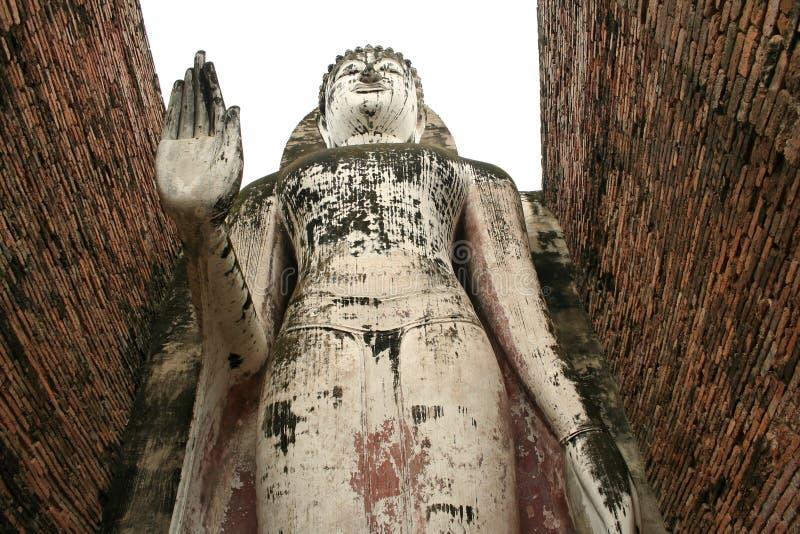 大菩萨雕象sukothai泰国 免版税库存照片