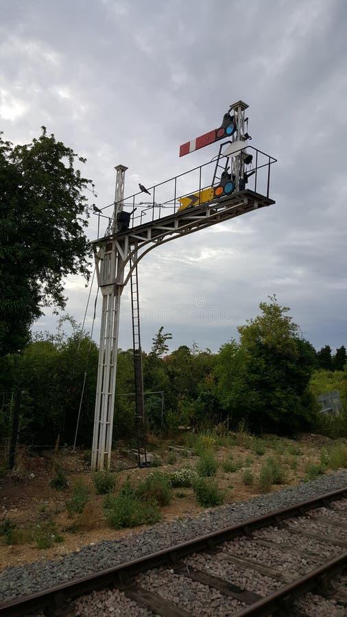 大葡萄酒铁路信号 库存照片