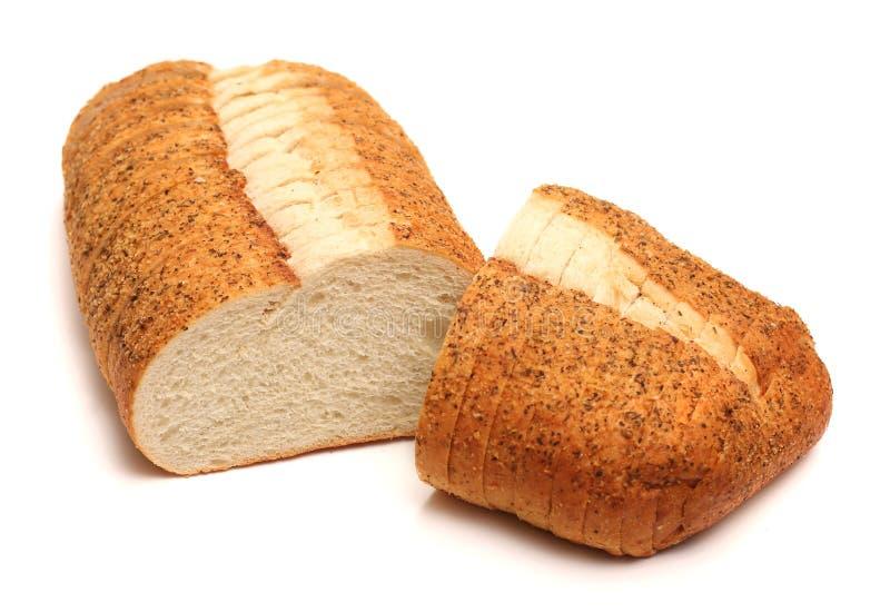 大蒜和草本工匠白面包 库存照片
