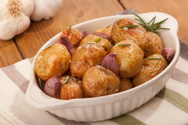 大蒜土豆迷迭香 免版税库存图片