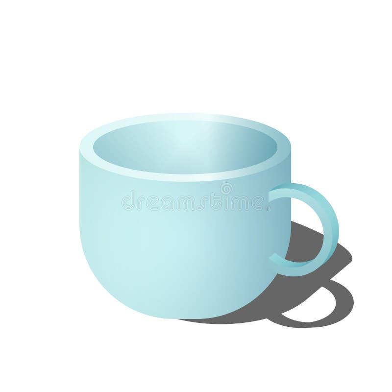 大蓝色杯子 向量例证