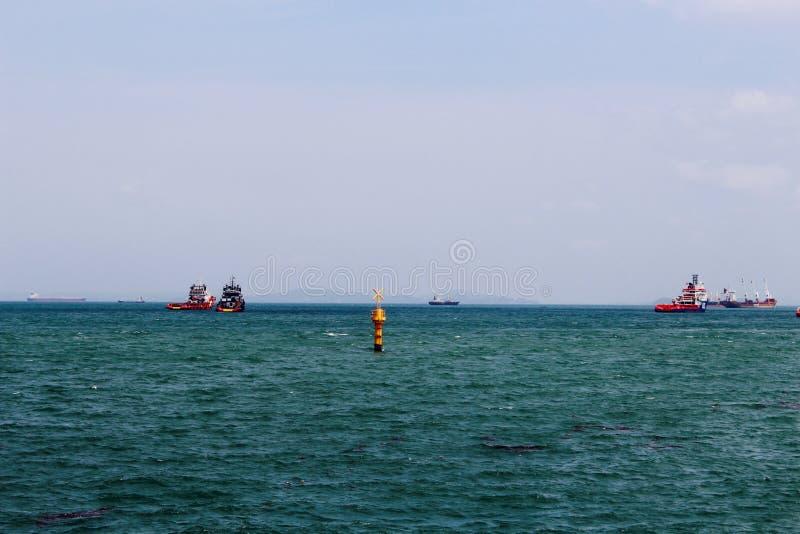 大蓝色海 库存图片
