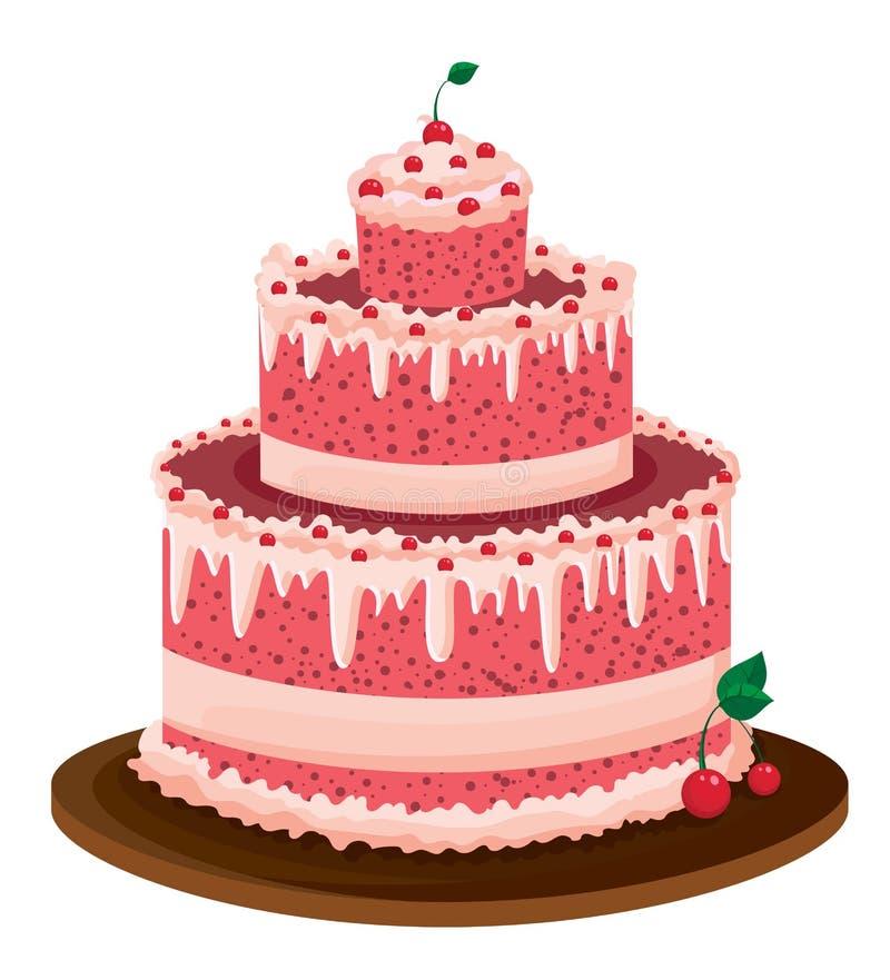 大蛋糕粉红色 库存照片