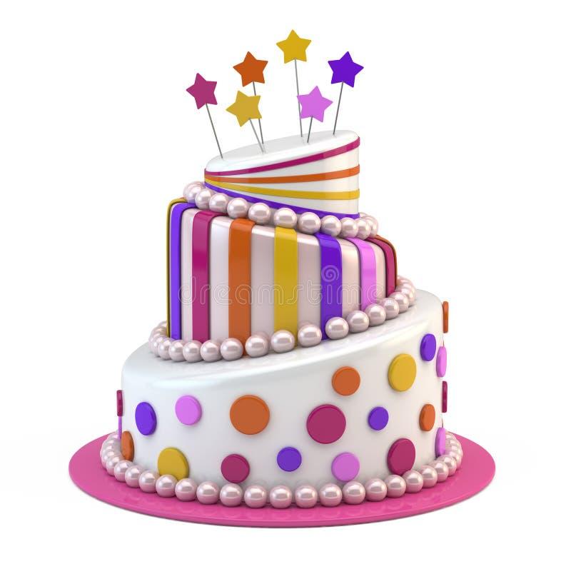 大蛋糕节假日 向量例证