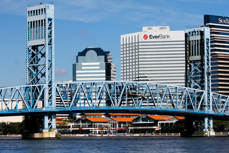 大街桥梁,杰克逊维尔, FL 图库摄影