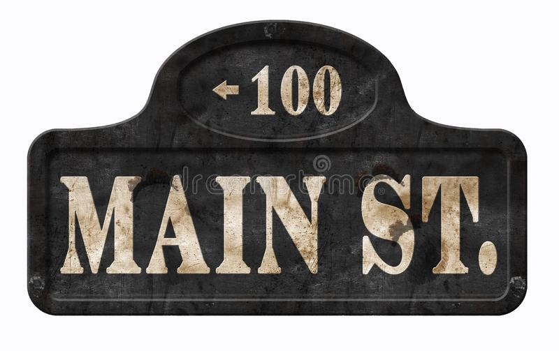 大街美国葡萄酒标志美国人迪斯尼 免版税库存图片