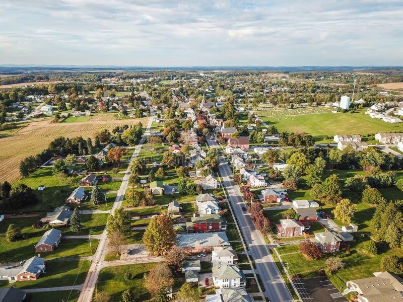 大街舒兹伯利,南部的约克县dur的宾夕法尼亚 库存图片