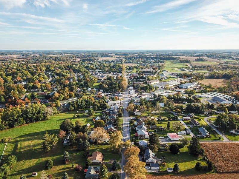 大街舒兹伯利,南部的约克县dur的宾夕法尼亚 免版税库存照片
