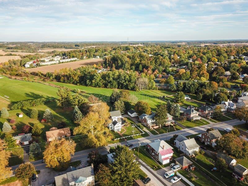 大街舒兹伯利,南部的约克县dur的宾夕法尼亚 免版税库存图片