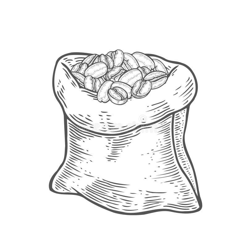大袋用咖啡豆 皇族释放例证