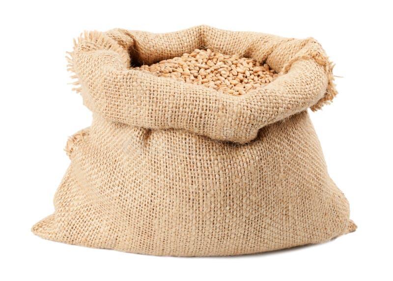 大袋麦子谷物袋子 免版税库存图片