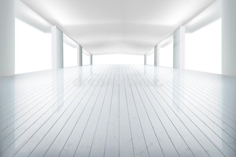 大被阐明的室 也corel凹道例证向量 库存例证