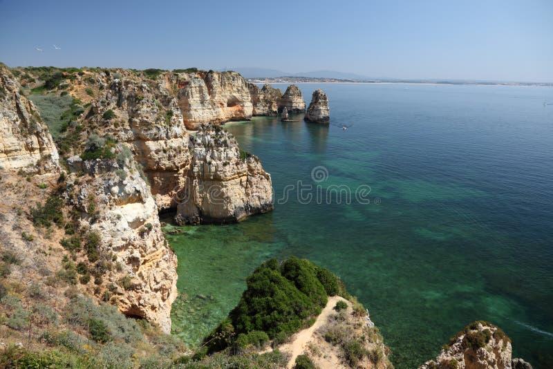 大西洋峭壁海岸葡萄牙 免版税库存照片