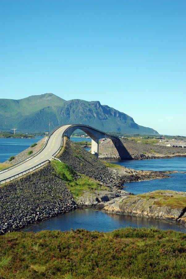 大西洋桥梁挪威路vew 库存图片