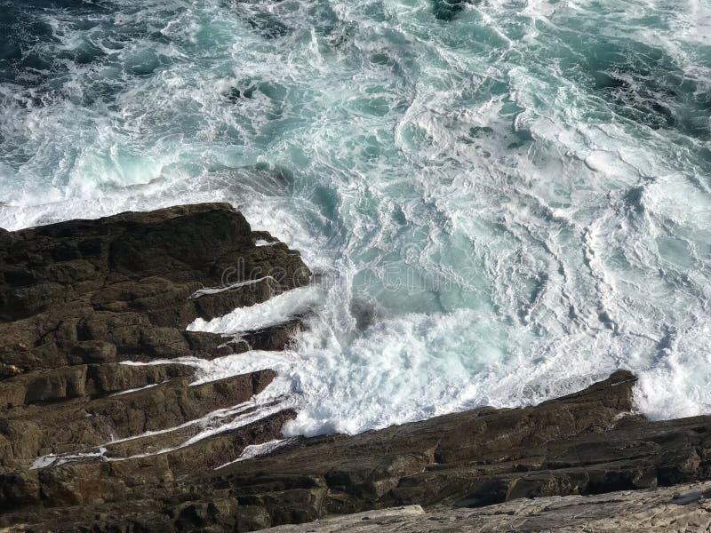 大西洋顶视图 库存照片